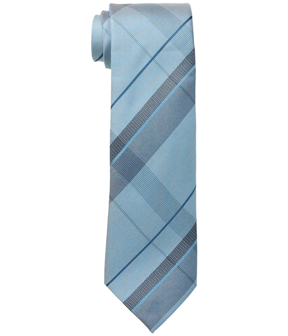 Kenneth Cole Reaction - Canvas Grid (Teal) Ties