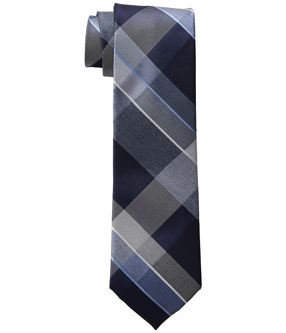 Kenneth Cole Reaction - Track Plaid (Navy) Ties