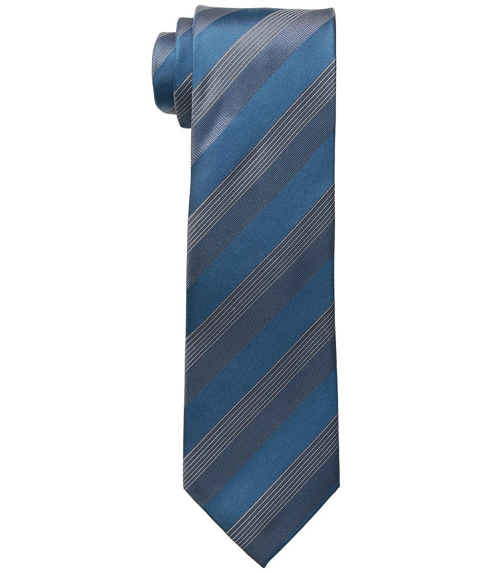 Kenneth Cole Reaction - Elegant Stripe (Teal) Ties