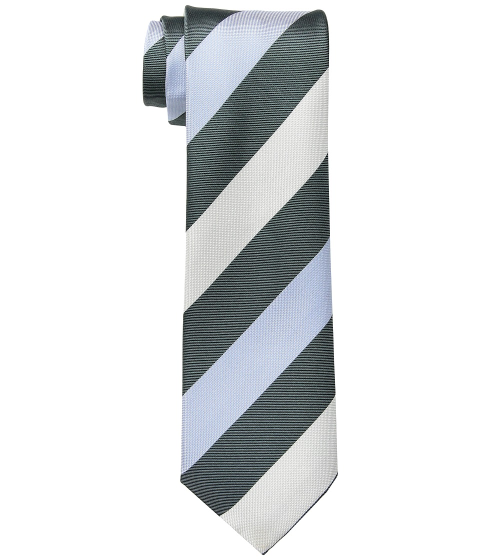 Kenneth Cole Reaction - Modern Rugby Stripe (Mint) Ties
