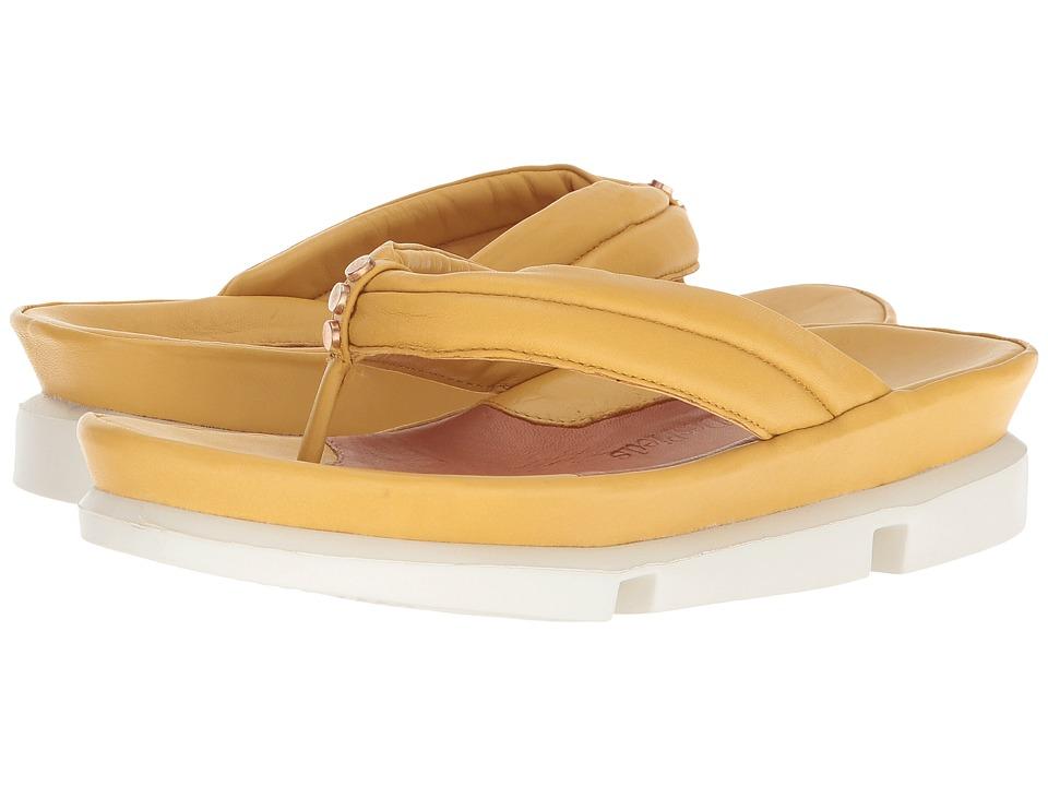 L'Amour Des Pieds Villapapaver (Mustard Nappa) Sandals