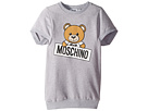 Moschino Kids Moschino Kids Short Sleeve Teddy Bear Logo Graphic Dress (Little Kids/Big Kids)