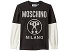 Moschino Kids Logo Graphic T-Shirt w/ Contrast Sleeves (Little Kids/Big Kids)