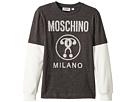 Moschino Kids Logo Graphic T-Shirt w/ Contrast Sleeves (Big Kids)