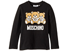 Moschino Kids Long Sleeve Teddy Bear Logo Graphic T-Shirt (Little Kids/Big Kids)