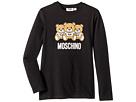 Moschino Kids Long Sleeve Teddy Bear Logo Graphic T-Shirt (Big Kids)