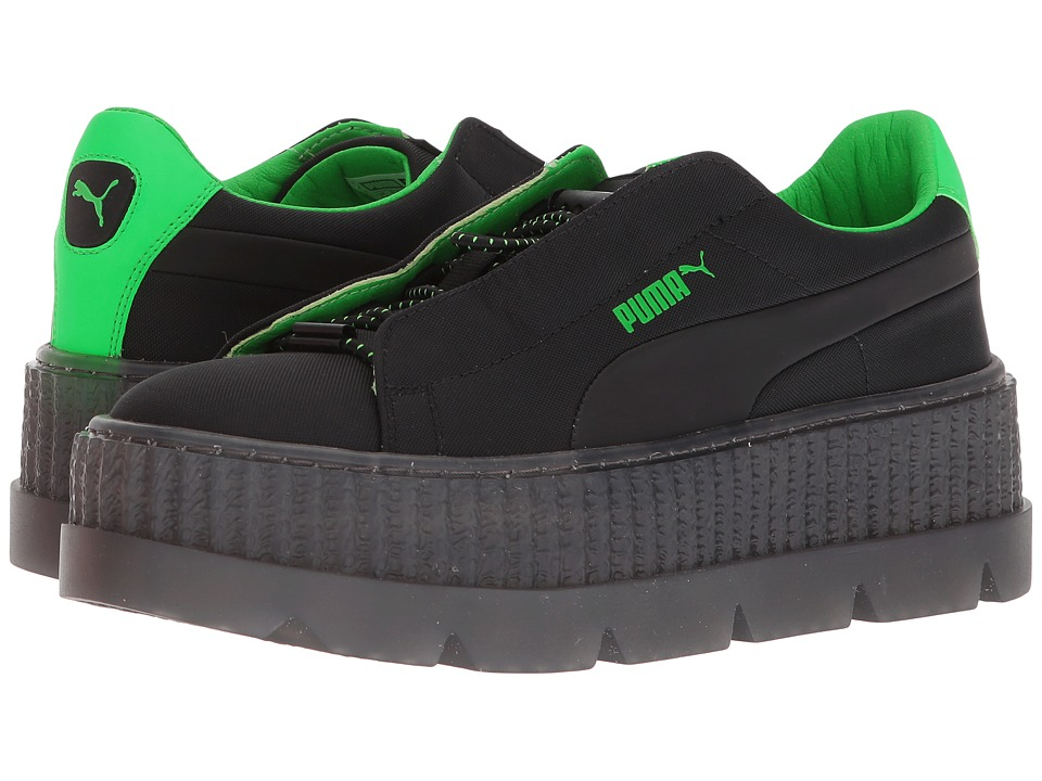 PUMA - Puma x Fenty by Rihanna Cleated Creeper Surf (Puma Black/Green Gecko/Puma Black) Womens Shoes