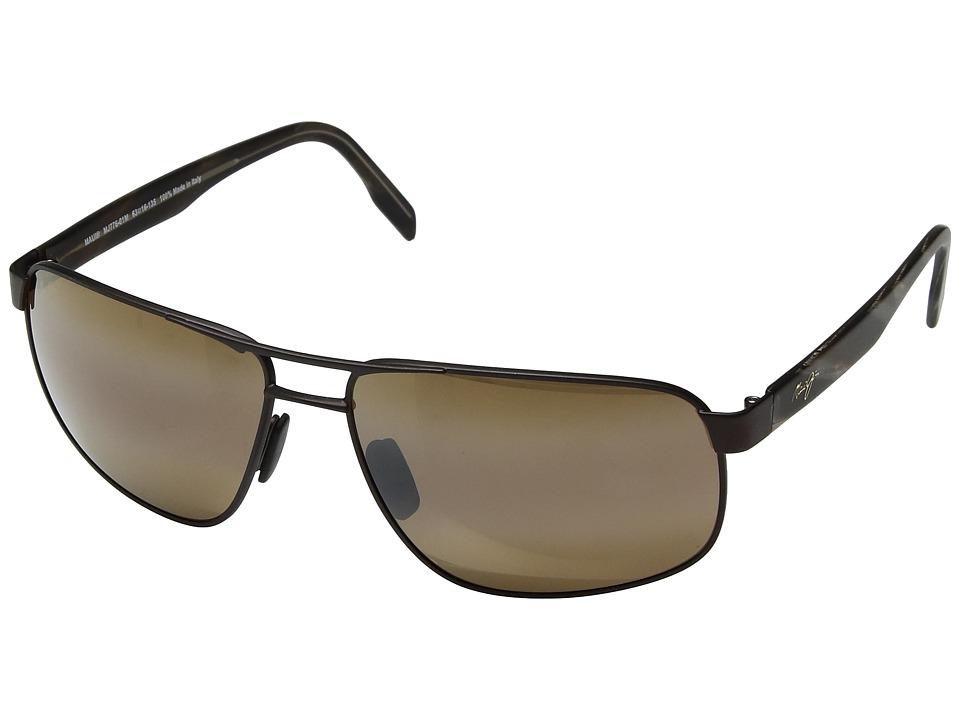 Maui Jim - Whitehaven (Satin Chocolate/HCL Bronze) Sport Sunglasses