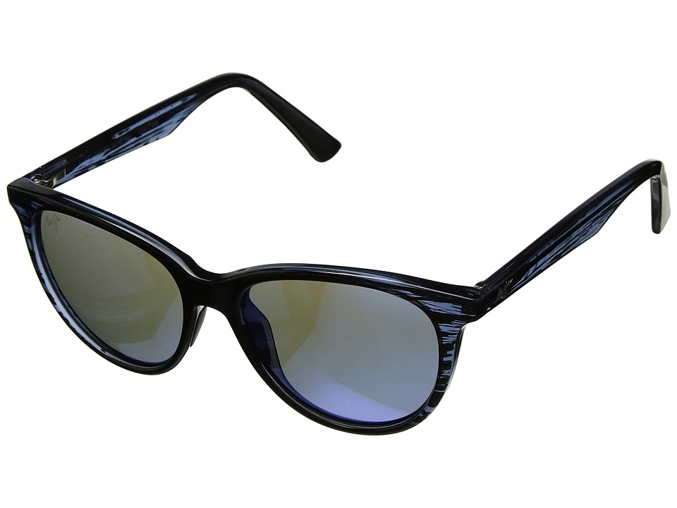 Maui Jim - Cathedrals (Blue Black Stripe/Blue Hawaii) Sport Sunglasses