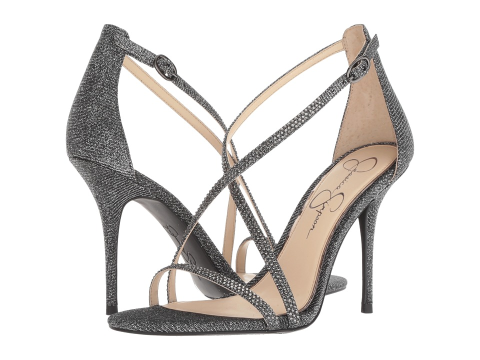 Jessica Simpson Annalesse (Pewter Multi Glitter Gabor) Women's Shoes