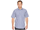 Magna Ready Short Sleeve Magnetically-Infused Plaid Dress Shirt- Spread Collar