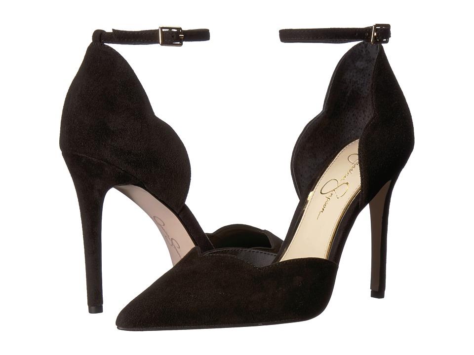 Jessica Simpson Pairus (Black Luxe Kid Suede) Women's Shoes