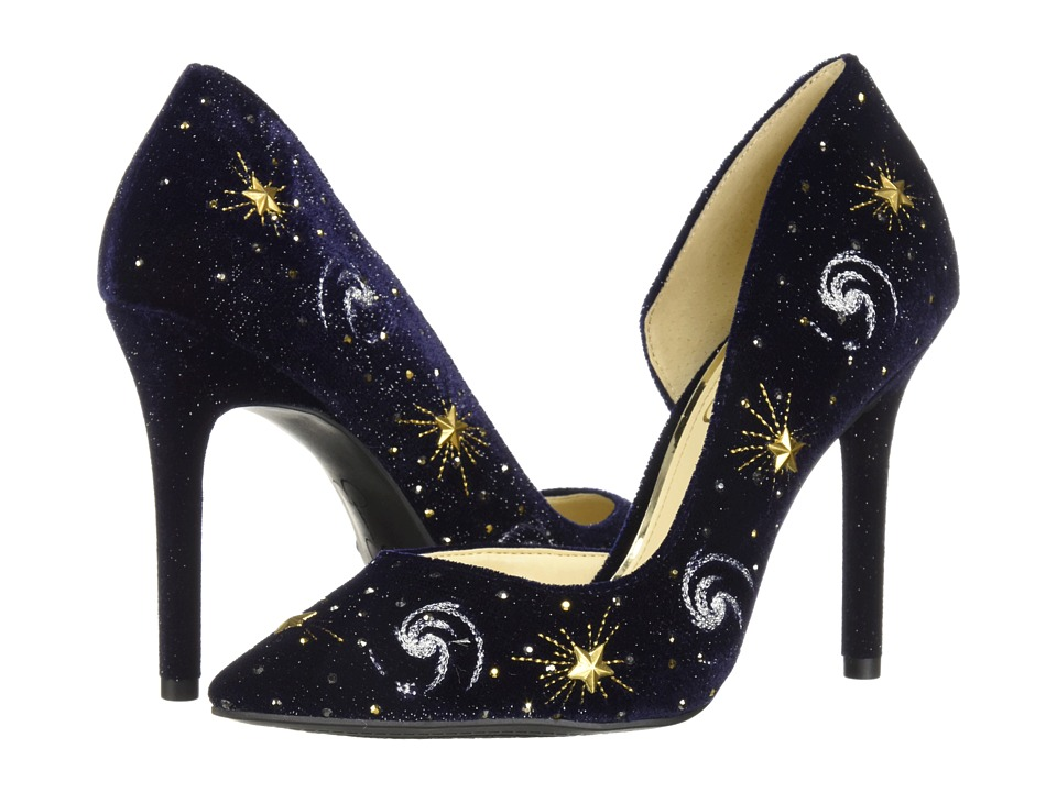 Jessica Simpson Lucina 4 (Celestial Blue Sparkle Velvet) Women's Shoes
