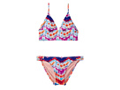 Hobie Kids Chevron and on Bralette Strappy Hipster Swim Set (Big Kids)