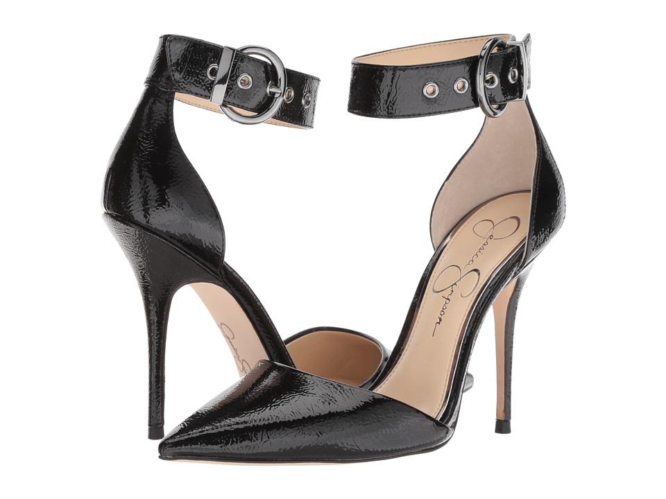Jessica Simpson Waldin (Black Crinkle Patent) Women's Shoes