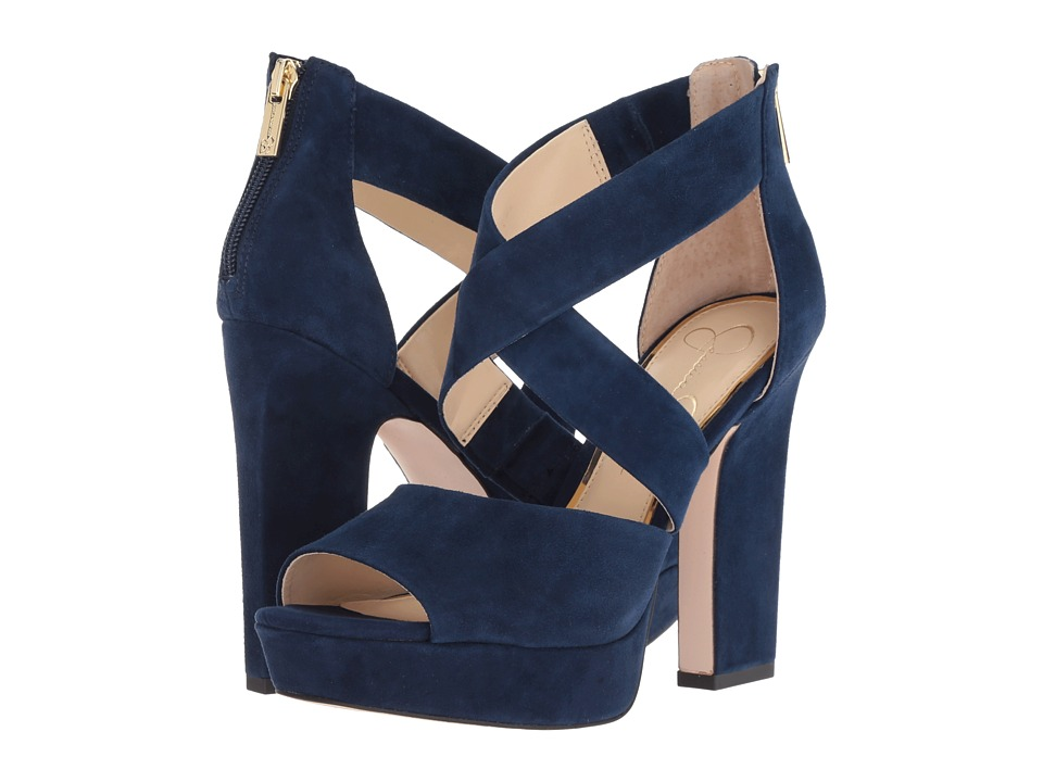 Jessica Simpson Tehya (Celestial Blue Luxe Kid Suede) Women's Shoes