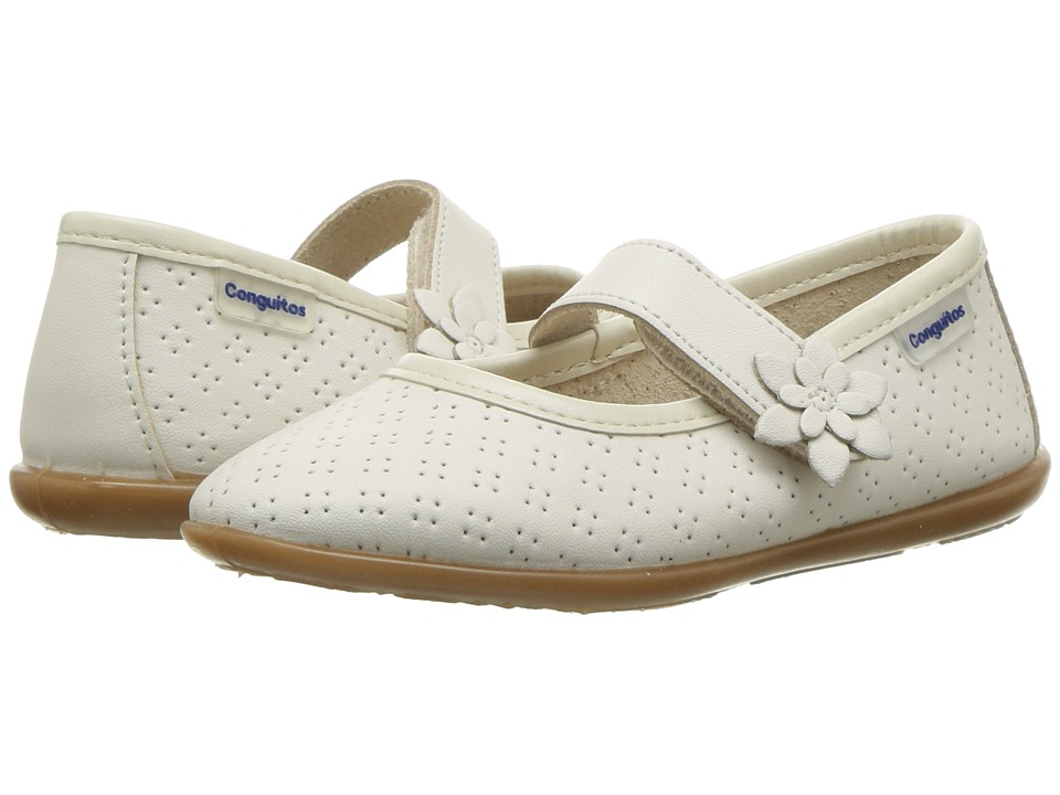 Conguitos - IV126517 (Toddler/Little Kid/Big Kid) (Beige) Girls Shoes