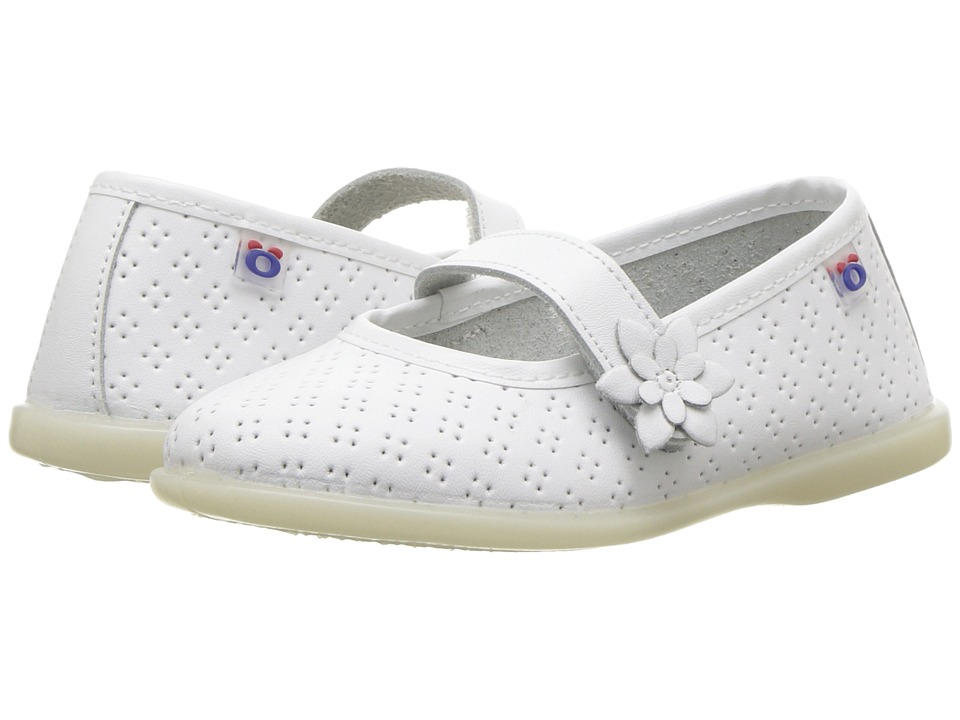 Conguitos - IVS10255 (Toddler) (White) Girls Shoes