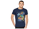 Scotch & Soda Tee in Melange Jersey Quality with Big Chest Artwork