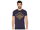 Scotch & Soda Crew Neck Tee with Washing and Gradient Artwork