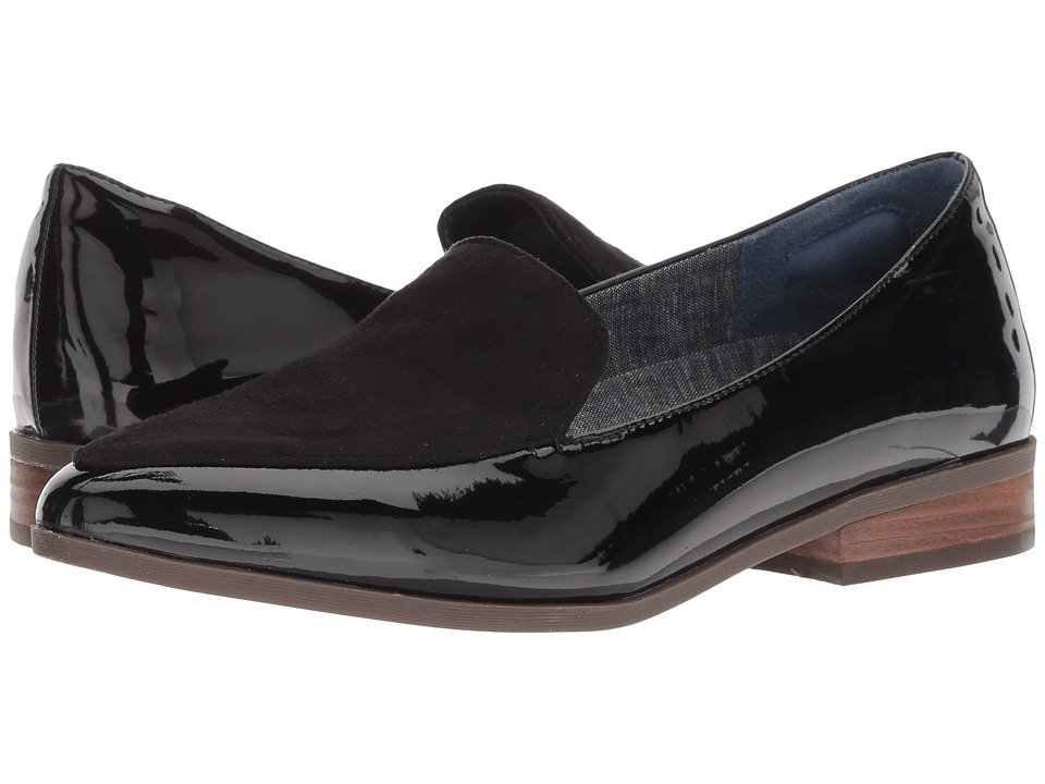 Dr. Scholl's Elegant (Black Patent/Black Microfiber Plug) Women's Shoes