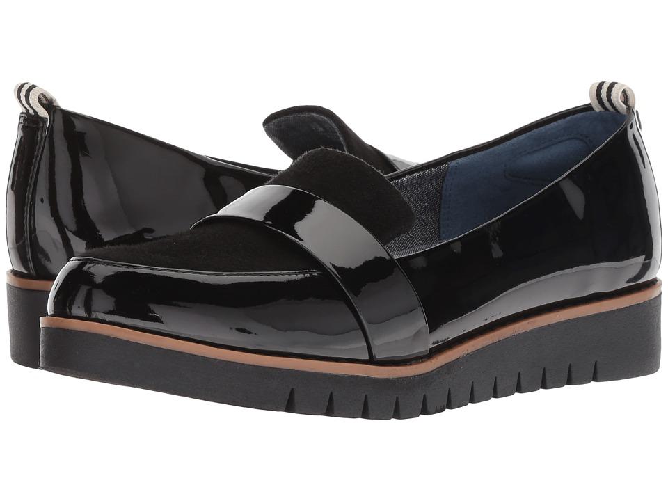 Dr. Scholl's Imagined (Black Patent/Black Microfiber Plug) Women's Shoes