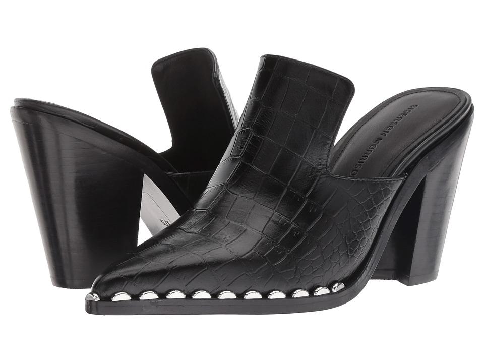 Sigerson Morrison Kacey (Black Croc) Women's Shoes
