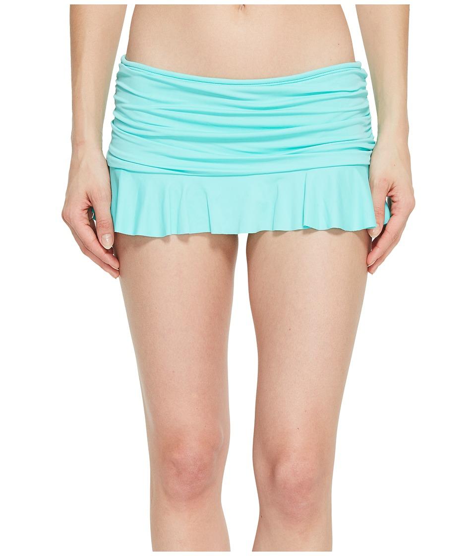 La Blanca - Island Goddess Ruffle Skirted Hipster (Seafoam) Womens Swimwear