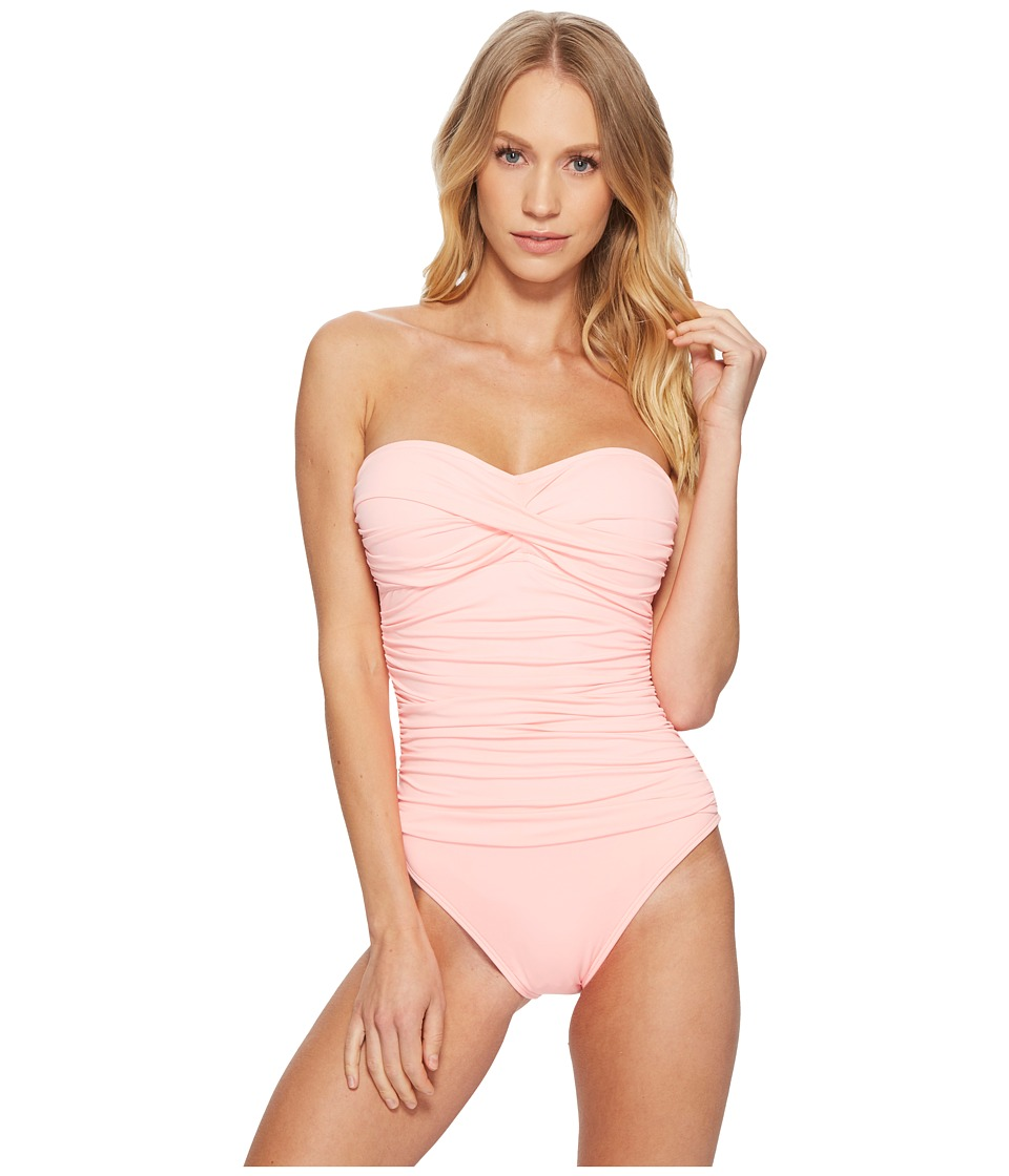 La Blanca - Island Goddess Bandeau One-Piece (Light Coral) Womens Swimsuits One Piece