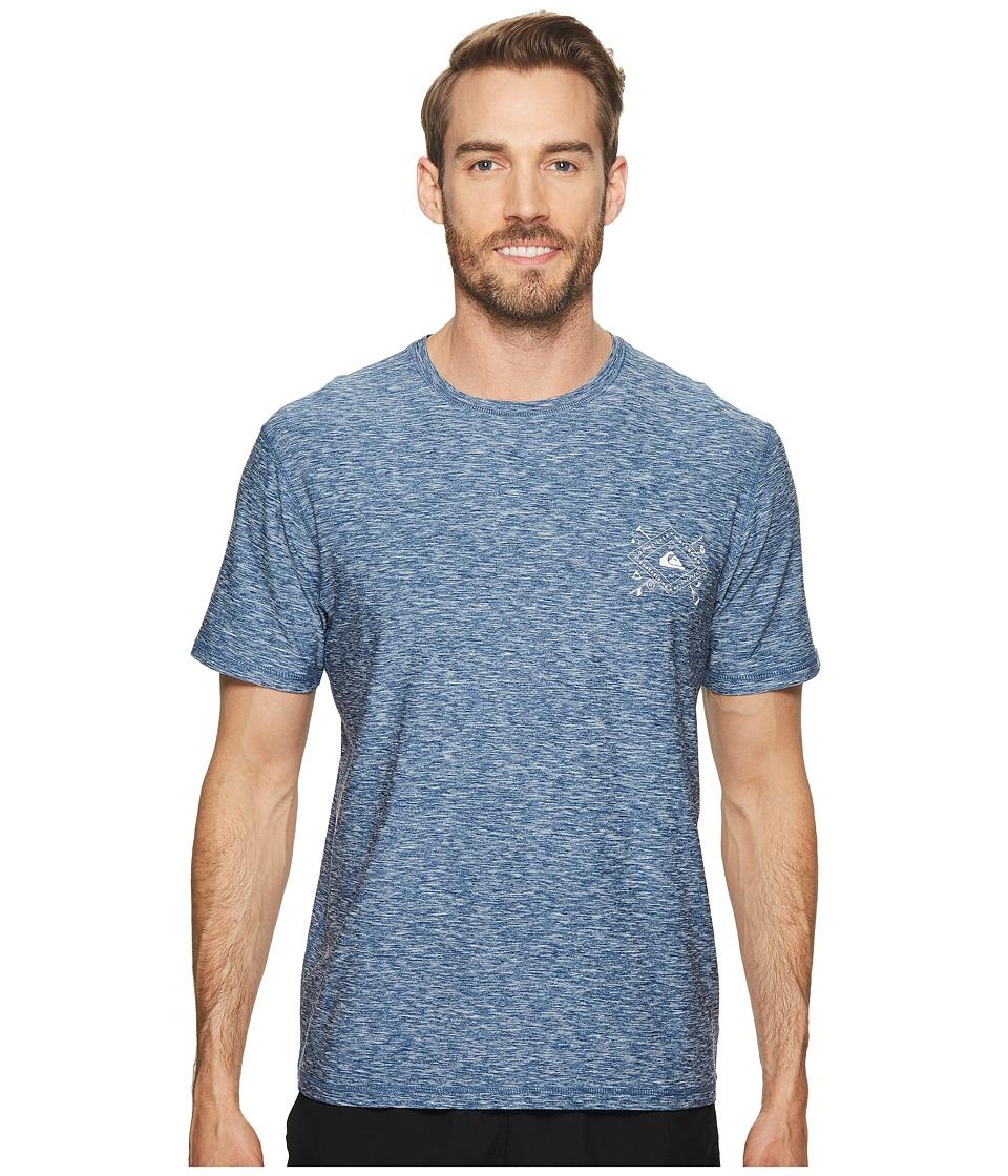 Quiksilver Waterman - Water Marked Short Sleeve (Dark Denim) Mens T Shirt