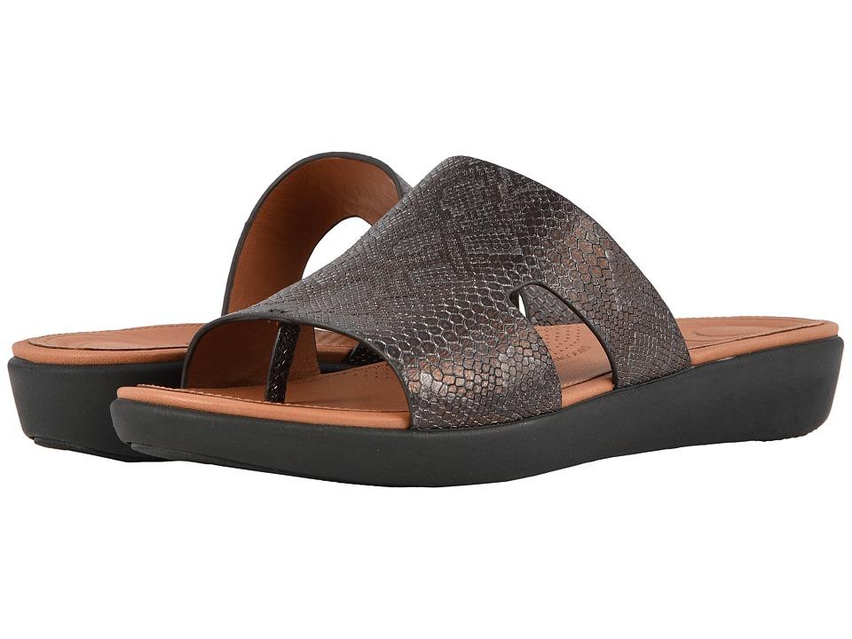 FitFlop H Bar Python Print (Black) Women's Shoes
