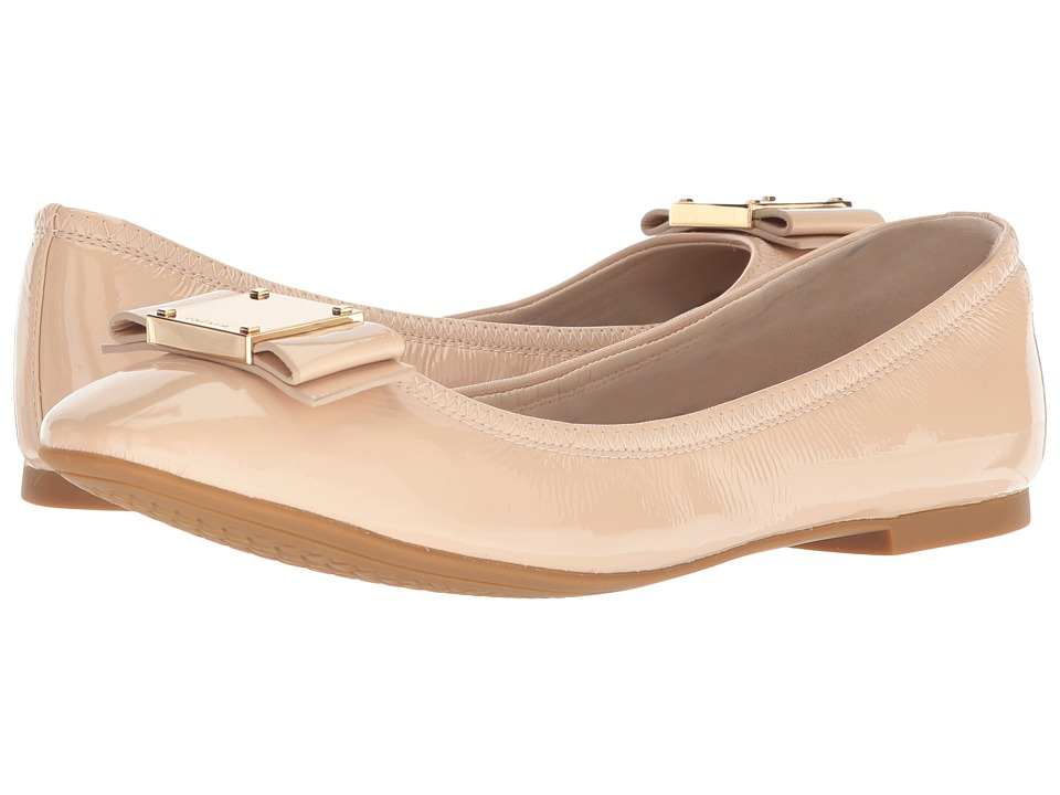 Cole Haan - Tali Modern Bow Ballet (Nude Patent) Womens Flat Shoes