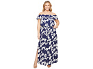 Adrianna Papell Plus Size Simple Delight Ruffle Maxi