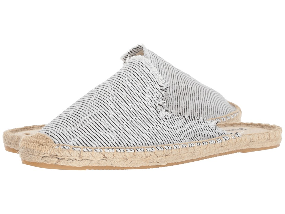Soludos Frayed Mule (Natural/Black) Women's Clog/Mule Shoes