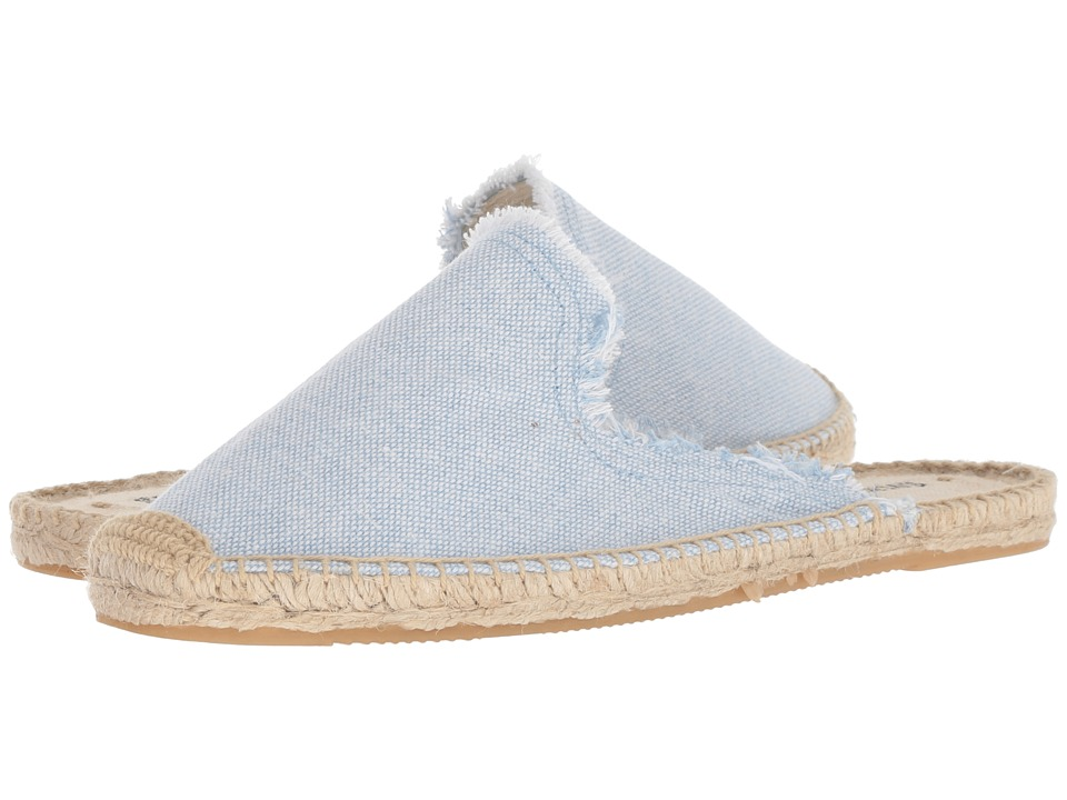 Soludos Frayed Mule (Sky Blue) Women's Clog/Mule Shoes