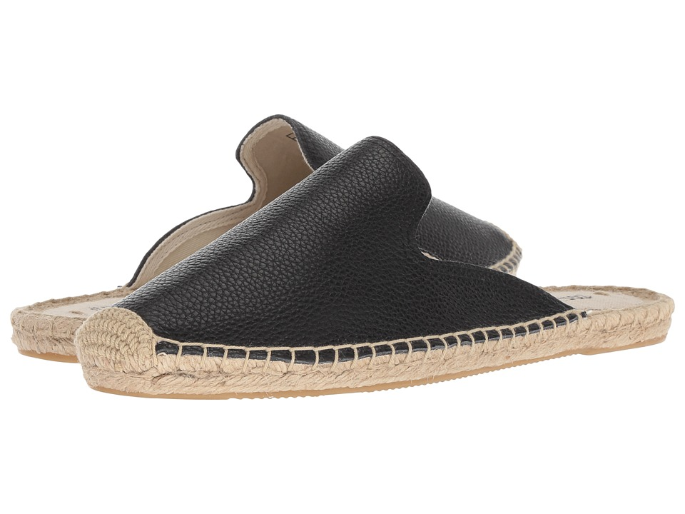 Soludos Tumbled Leather Mule (Black) Women's Clog/Mule Shoes