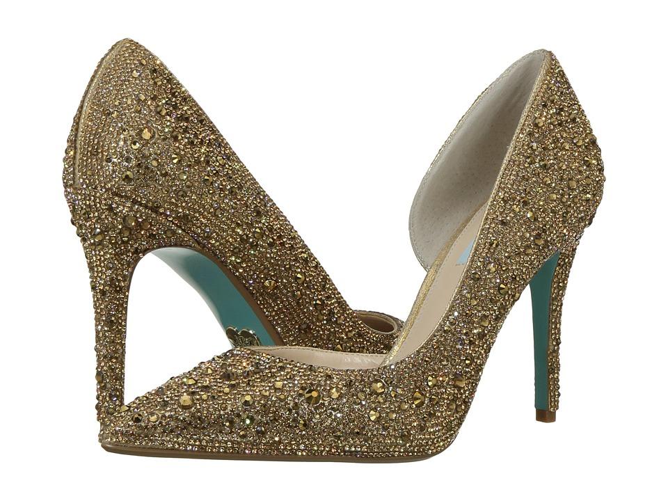 Blue by Betsey Johnson Hazil (Gold) High Heels