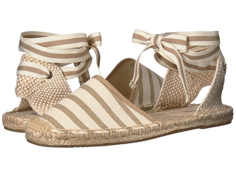 Soludos Classic Stripe Sandal (Natural/Tan) Sandals