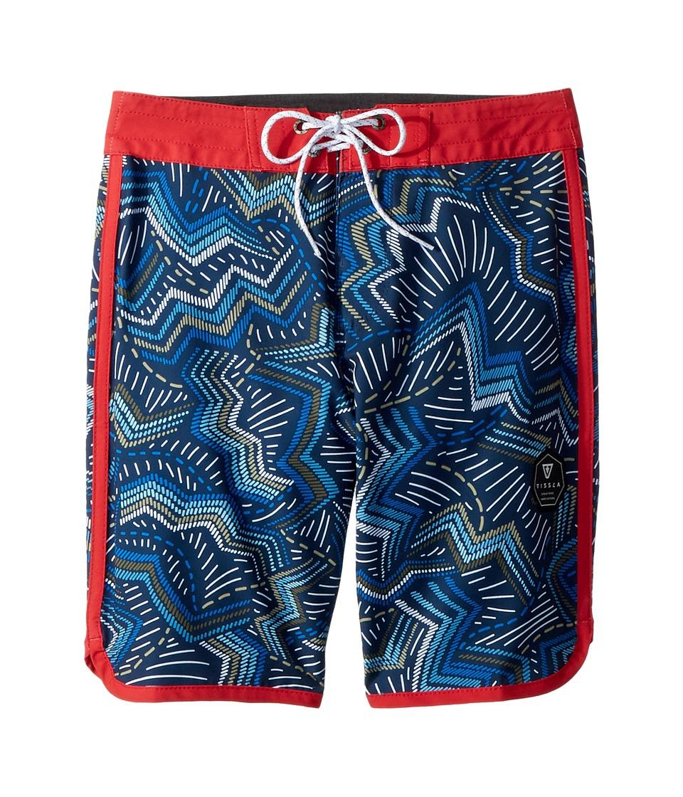 VISSLA Kids - Testa Four-Way Stretch 17 Boardshorts (Big Kids) (Dark Denim) Boys Swimwear