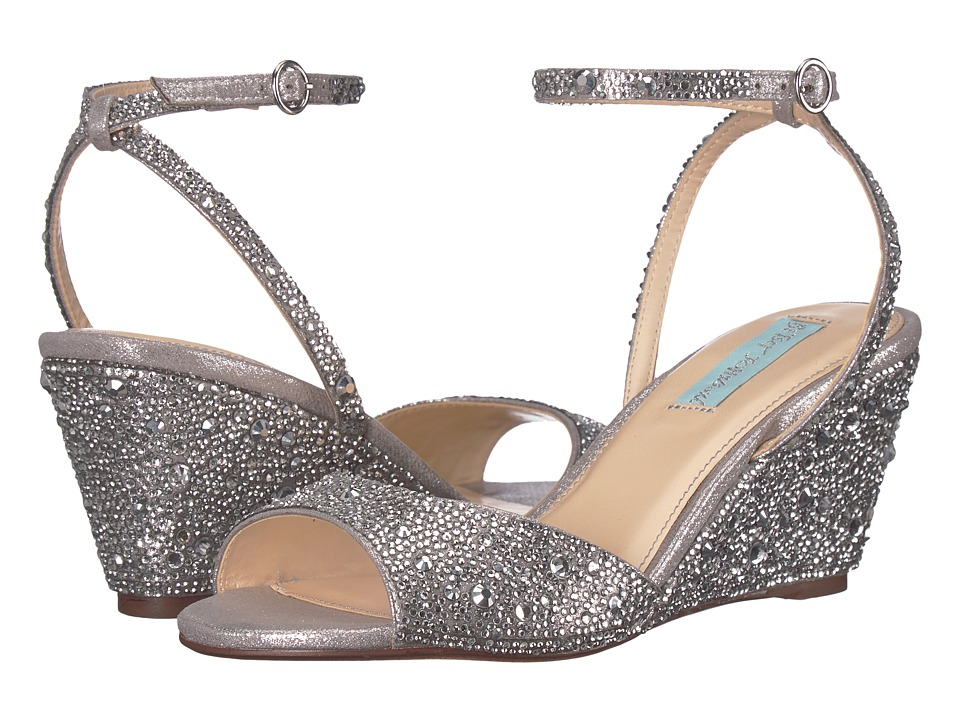 Blue by Betsey Johnson Elora (Silver) Wedges