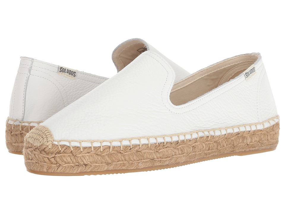 Soludos Platform Smoking Slipper (White 1) Slip-On Shoes