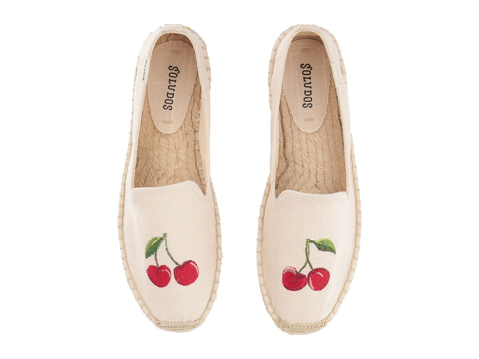 Soludos Cherries Smoking Slipper (Blush) Slippers