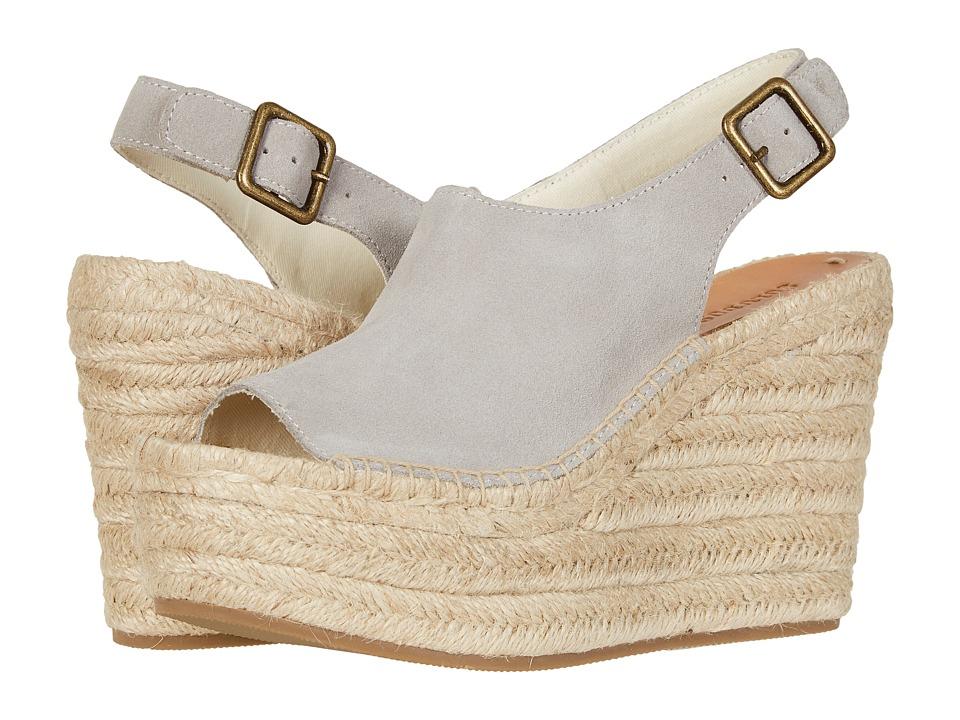 Soludos Sevilla Platform Wedge (Stone) Women's Shoes