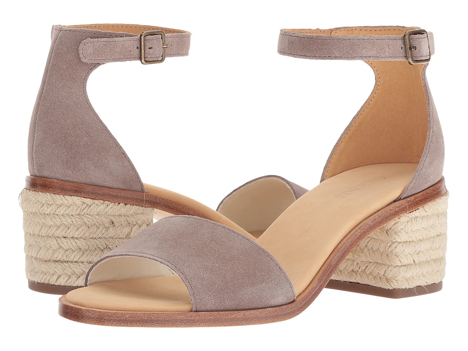 Soludos Capri Suede Heel (Ash) Women's Shoes