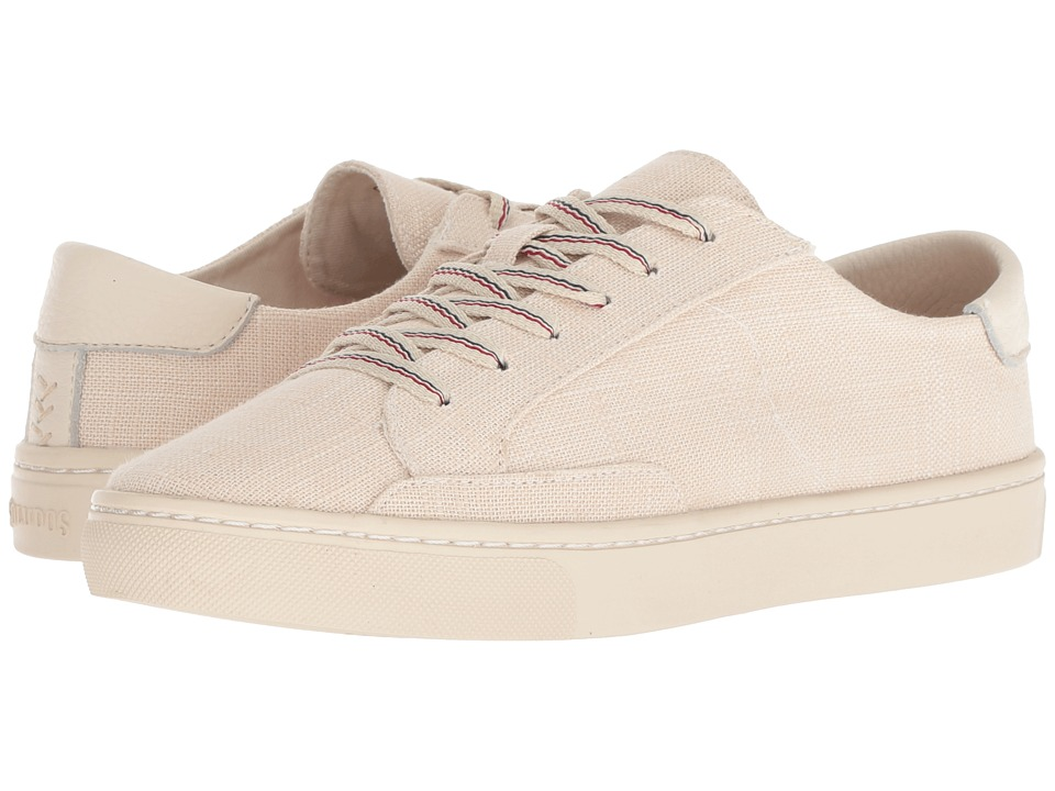 Soludos Ibiza Linen Lace-Up Sneaker (Blush)
