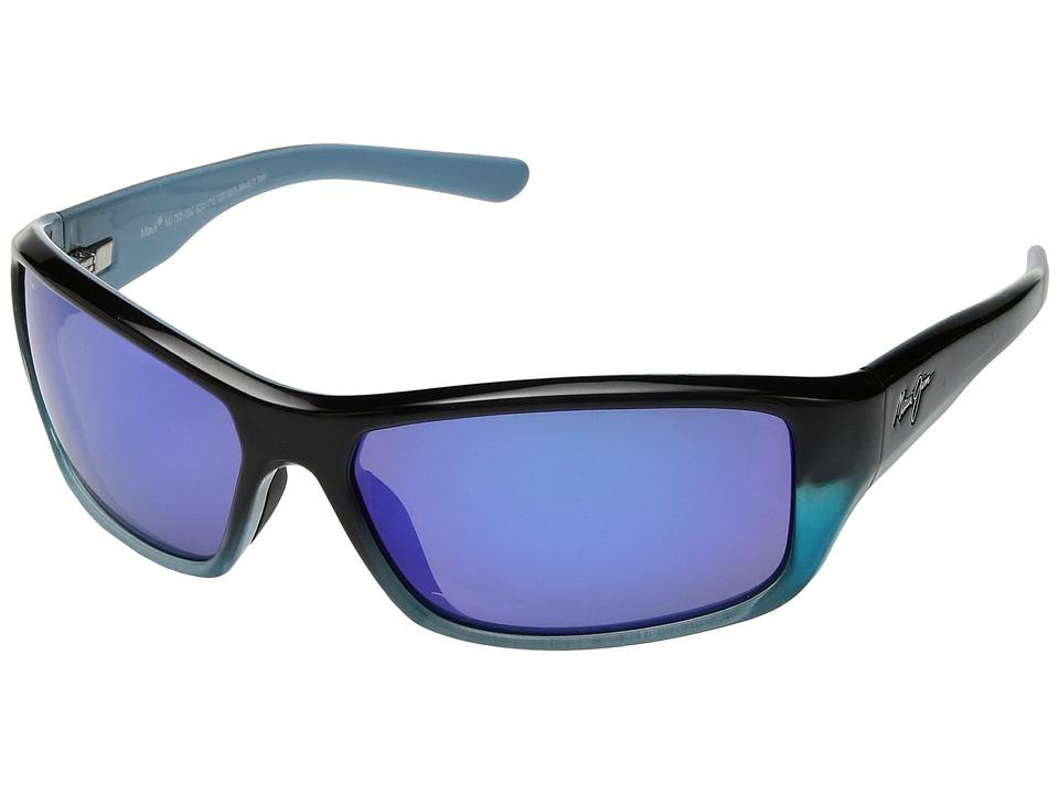 Maui Jim - Barrier Reef (Blue/Turquoise/Blue Hawaii) Athletic Performance Sport Sunglasses