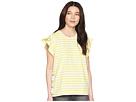 LAUREN Ralph Lauren Petite Striped Cotton Flutter-Sleeve T-Shirt