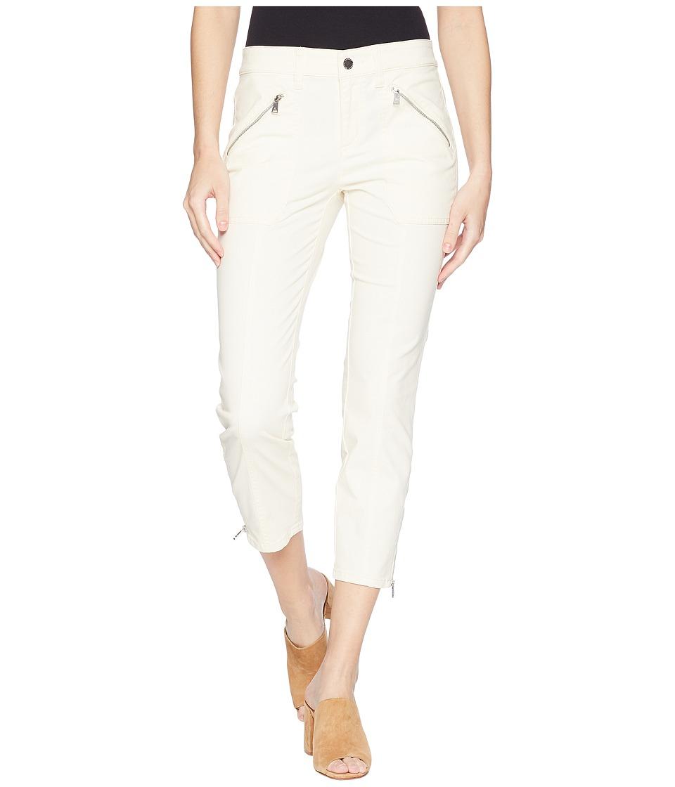 LAUREN Ralph Lauren Zip-Pocket Skinny Cargo Pants (Chalk) Women
