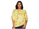 LAUREN Ralph Lauren Plus Size Floral Linen-Blend Top