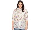 LAUREN Ralph Lauren Plus Size Floral Cotton-Blend Shirt
